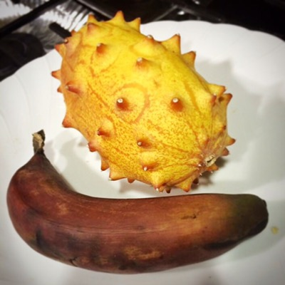 Kiwano Fruit and Red Banana